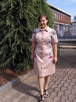Работа с названием Просто платье-рубашка