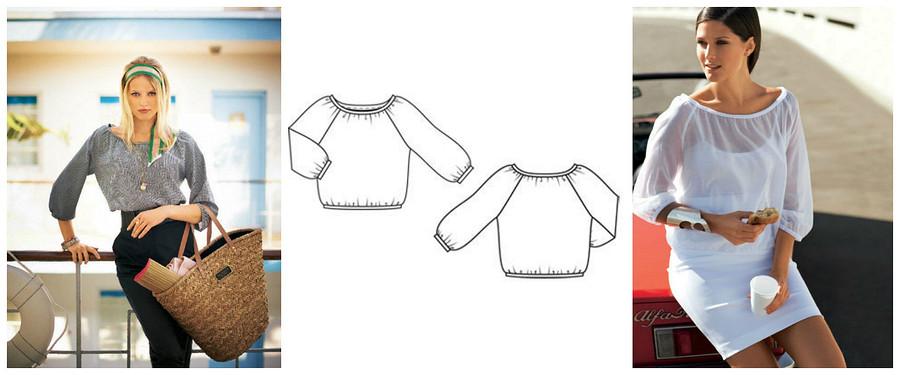 5 блузок изстарых номеров Burda, которые актуальны сегодня как никогда