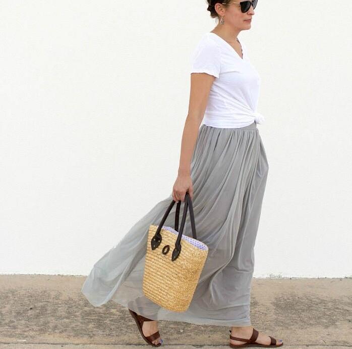 Двухслойная длинная юбка безвыкройки: мастер-класс