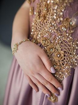 Работа с названием Платье «Роза в бронзе»