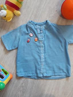 Работа с названием Хлопковая детская рубашка