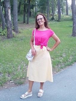 Работа с названием Льняная юбка