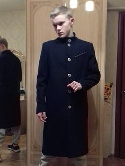 Работа с названием пальто для сына