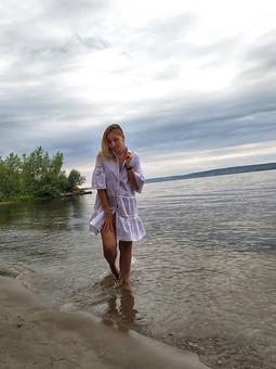 Работа с названием Пляжное платье- туника