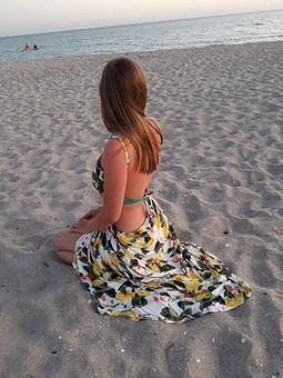 Работа с названием Пляжное платье для дочки