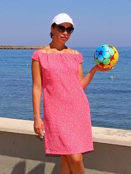 Работа с названием Пляжное платье