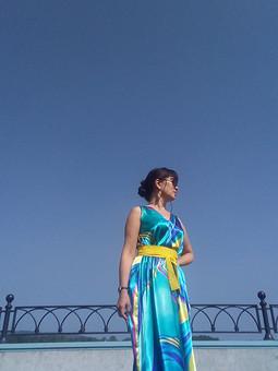 Работа с названием Платье по выкройке burda