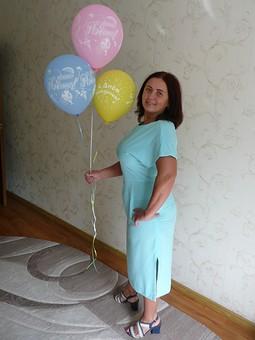 Работа с названием Платье для новорожденного