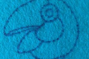 Лайфхак: как перевести рисунок для вышивки на фетр с помощью маркера