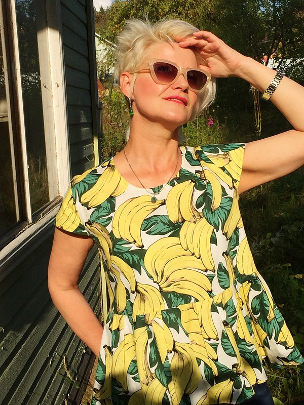 Ситцевая блузка