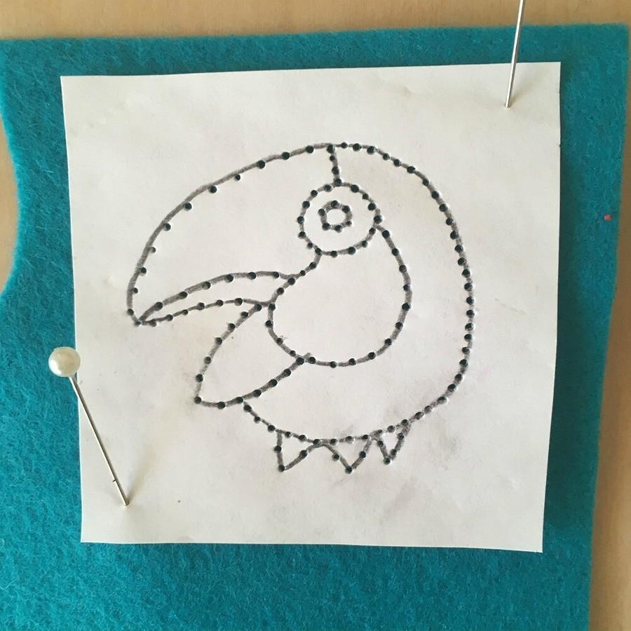 Лайфхак: как перевести рисунок длявышивки нафетр спомощью маркера