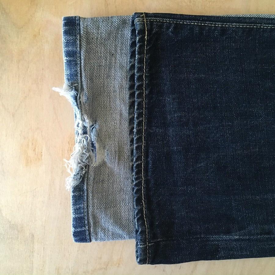 Как подшить джинсы вручную двойным швом вперёд иголку