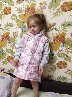 Работа с названием Пальто-жилет для дочки