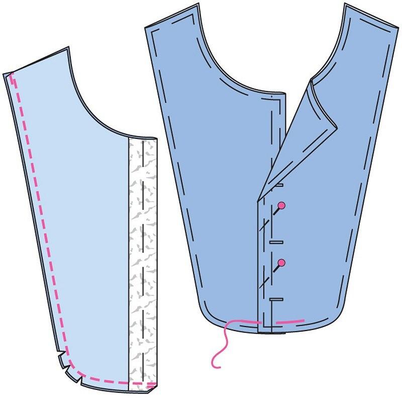 Как выполнить пластрон вмужской рубашке