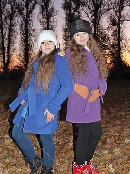 Работа с названием Любимое пальто для дочки и племяшки