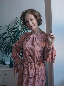 Работа с названием Осеннее платье