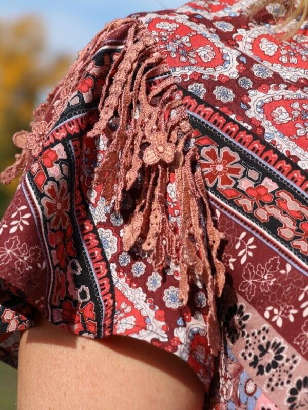 Платье «бабушкин платок»
