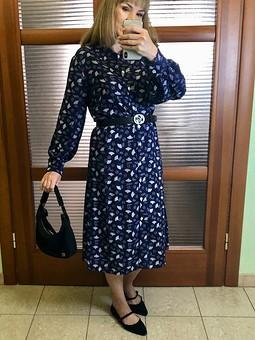 Работа с названием Платье рубашка 104 Burda 10/2018