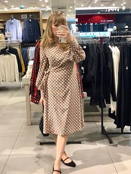 Работа с названием Платье из блузки 117 Burda 10/2018