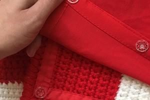Идея: подкладка на кнопках для вязаного одеяла или пледа