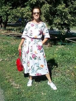 Работа с названием Оверсайз. Платье из рогожки.