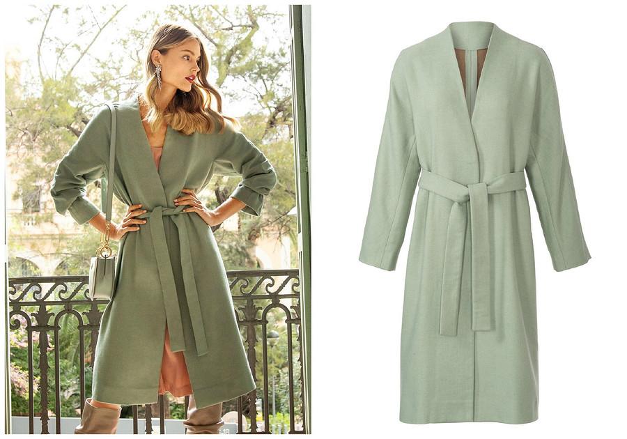 Выкройка месяца: уютное шерстяное пальто споясом (и его конкуренты!)