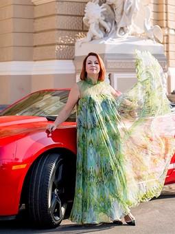 Работа с названием Платье к закрытию летнего сезона