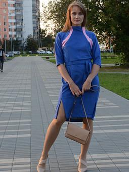 Работа с названием Замшевое платье!