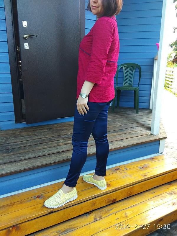 Августовские брюки облегающего кроя от Maleki