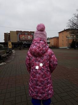 Работа с названием Детское зимнее  пальто из плащевки