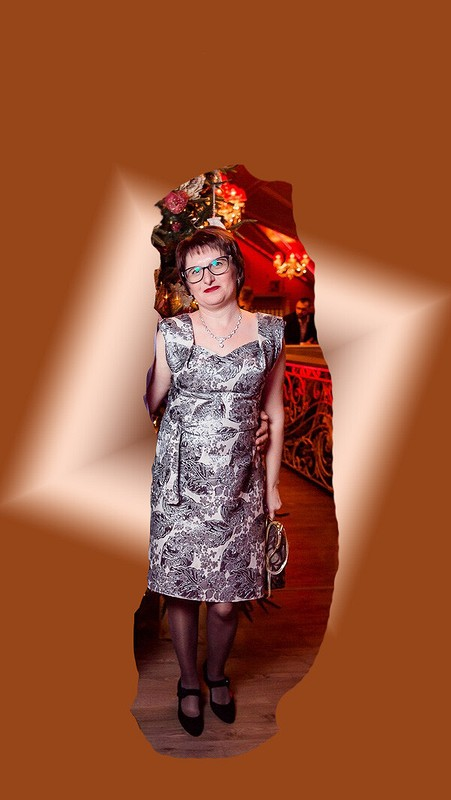 Платье новогоднее серебристое