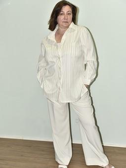 Работа с названием Приталенная блузка-рубашка