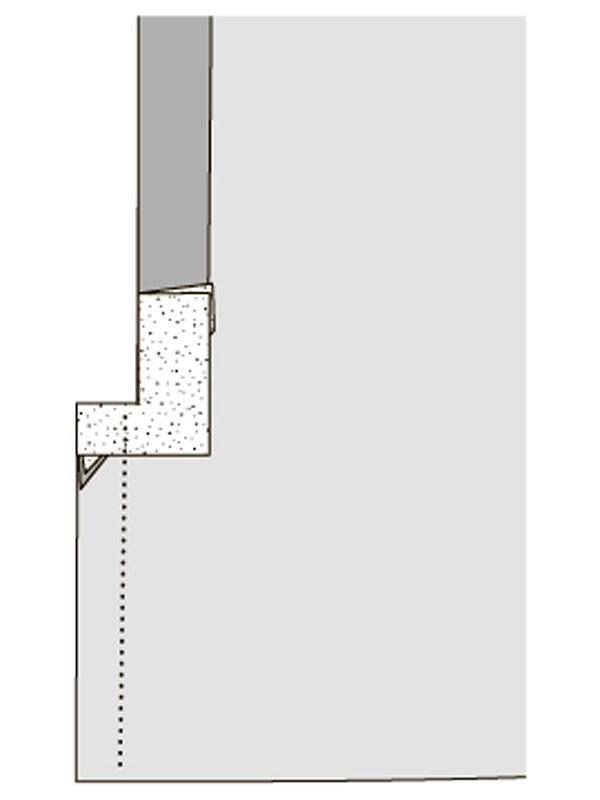 Как обтачать уголки разреза детали длязастёжки намолнию