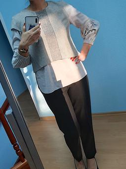 Работа с названием Блуза из брюк