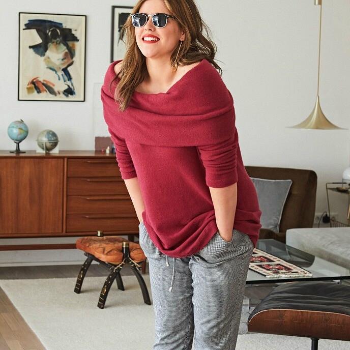 Трикотаж для«плюсиков»: 15 выкроек пуловеров, джемперов исвитеров