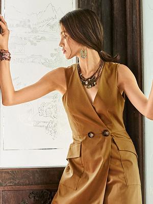 Выкройка месяца: эффектное платье-жилет