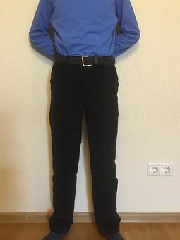 Работа с названием Вельветовые утеплённые брюки