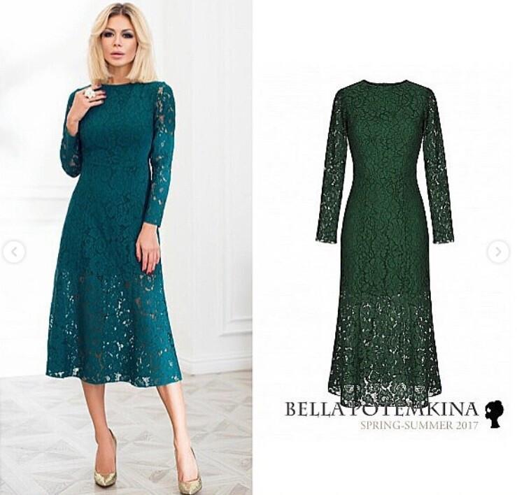 Платье иззелёного кружева от KsuVM