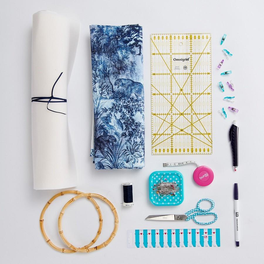 Суперпринт: сумка сбамбуковыми ручками своими руками