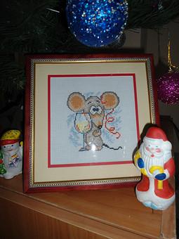 Работа с названием Новогодняя мышка