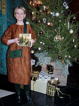 Работа с названием Рождество на ФФ с Оксаной: Зимнее платье осеннего цвета по летней выкройке