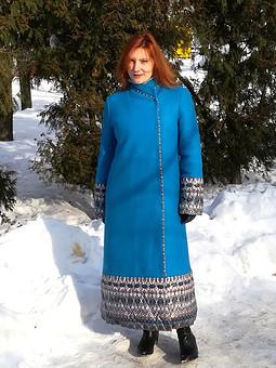 Работа с названием Пальто зимнее, лоден и плащевка