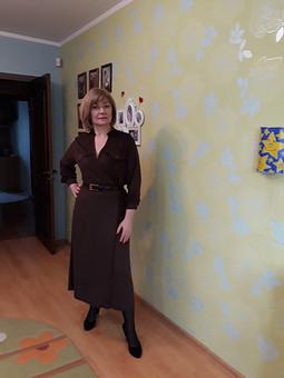 Работа с названием Шоколадное платье