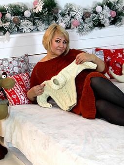 Работа с названием Рождество на ФФ с Майей Третьяковой. Свитер для малыша