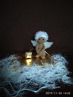Работа с названием Рождество на фф с Мирославой. Игрушки-Ангелочки