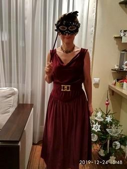Работа с названием Рождество на фф с Мирославой. Платье на Новогоднюю вечеринку