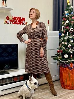 Работа с названием Рождество на ФФ с Glykerya: платье из джерси с запахом