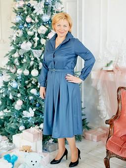 Работа с названием Рождество на ФФ с katrinka_n. Платье из зимнего шелка