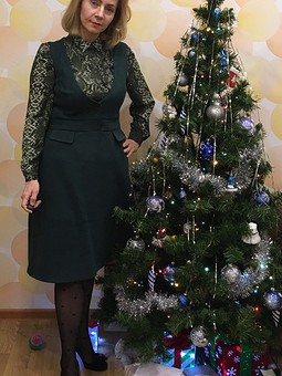 Работа с названием Рождество на ФФ с SvetlanaNaumova. Сарафан из искусственной замши