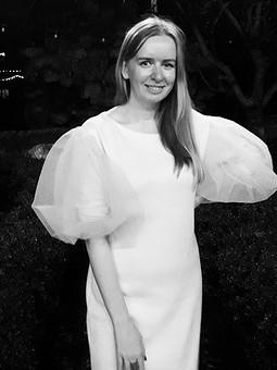 Работа с названием Нежное платье с рукавами-буфами
